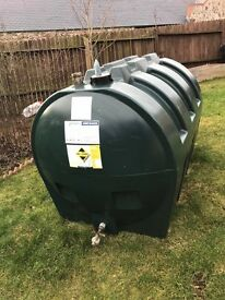 1400 litre single skin oil tank