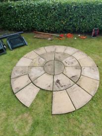 Flagstone circle