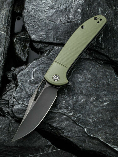 "Civivi Ortis Linerlock Folding Knife 3.25"" 9Cr18MoV Steel Blade Green FRN Handle"