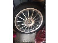 "Mg Zr 17"" alloy wheel"