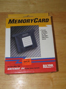 N64 mem card  - new in box  old stock   aftermarket  2 available Peterborough Peterborough Area image 1