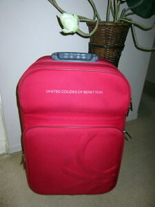 United Colors of Benetton Red 24 inches Spinner Suitcase