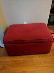 Red Ottoman - Solid w/ great storage - delivery available