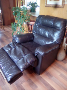 Faux Leather Recliner Rocking Chair