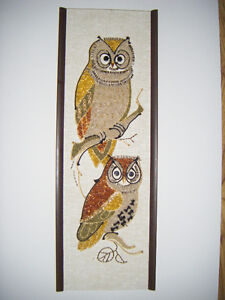 Hand crafted Owl Picture  Gravel art in Truro..
