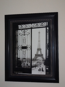 Classic Framed Picture of Eiffel Tower, Paris