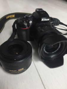 Nikon D5300 with 2 lenses for Sale *Great Condition*