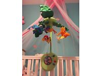 Fisher Price cot mobile with remote control