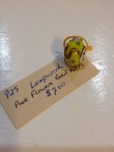 Murano/Lampwork Glass Bead Yellow Peterborough Peterborough Area image 1