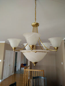 Gold ceiling light fixtures Cornwall Ontario image 1