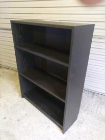 Black wood bookshelf