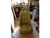 Two Leather campervan seats