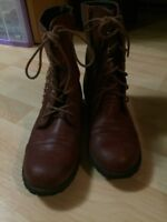 Red studded combat boots size 7
