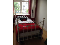 Victorian-Style Metal Bed Frame