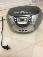 CD/Tape player with AM/FM radio