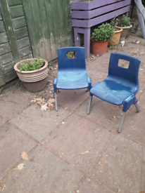 2 x small chairs
