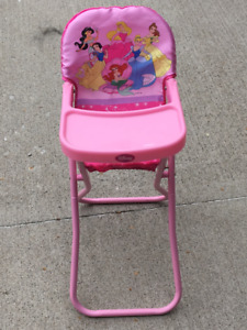 Disney Princess Doll High Chair, Play Pen and Stroller