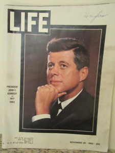 JFK on the cover of LIFE magazine