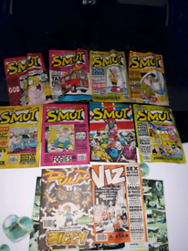 Smut Comics x 8 Plup comic x 1 Viz comic x 1