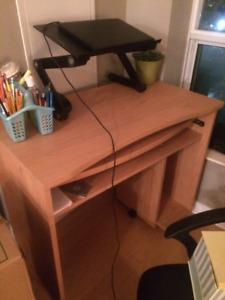 Tan Coloured Wood Desk / Bureau