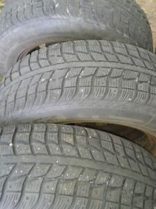 "Set of 4-195/65/15"" Tires on rims"