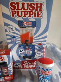 Slush puppie machine, cup and 2x syrups brand new