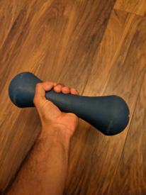 Crane Fitness 5kg Rubber Dumbbell