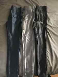 3 PAIRS OF AMERICAN APPAREL DISCO PANTS - SIZE MEDIUM