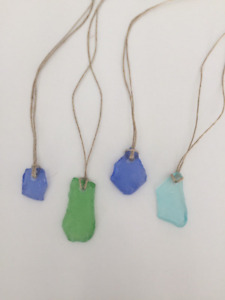 Sea glass necklace beach glass hand crafted will ship to you
