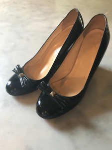 Kate Spade Patent Leather Wedge Heels 9B
