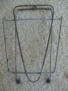 GRANDMA'S OLD WALL-HANGING METAL IRONING RACK