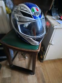 Motorcycle helmet agv large