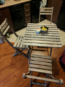 4 Piece Folding Table and Chair set