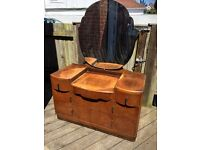 1940's vintage antique dresser drawers with mirror