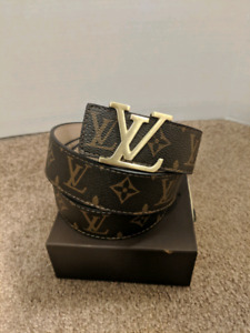 Brown Monogram LV Belt
