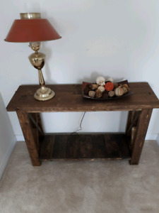 Handmade rustic console tables-priced to sell