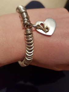 Links Of London Sterling Silver Charm Bracelet With Charm