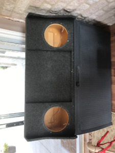 """underseat subwoofer box dual 10"""" just the box"""