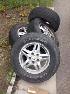 5 Honda CRV rims and tires