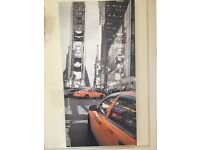 Large New York City Yellow taxi canvas