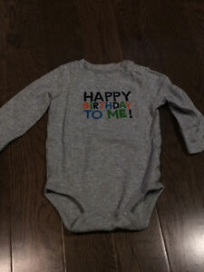 12 month Carters Birthday onesie