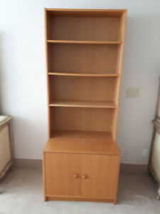Bookcase w/storage  -  Free To A Good Home