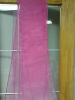 Wedding chair sashes or tiebacks and fabric serviettes