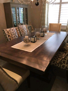 Beautiful, handmade, solid wood dining table