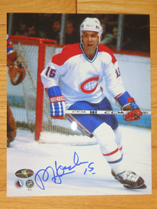 REJEAN HOULE Montreal Canadiens Signed 8 x 10 Photo W/COA
