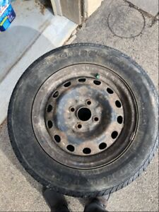 4 - P185/65R14 Used tires and steel rims
