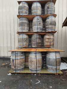 White oak wine barrels