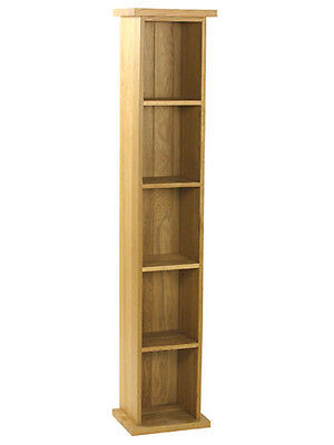 Carne Oak Narrow DVD Storage Tower / Rack / Unit