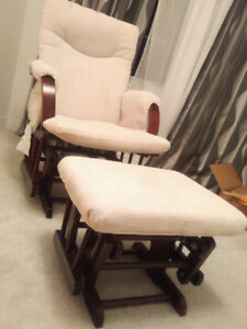 Nursing chair set / rocking chair and ottoman