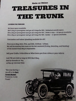 4th Treasures in the Trunk Aug 25th-27th  10-4. Crown Market